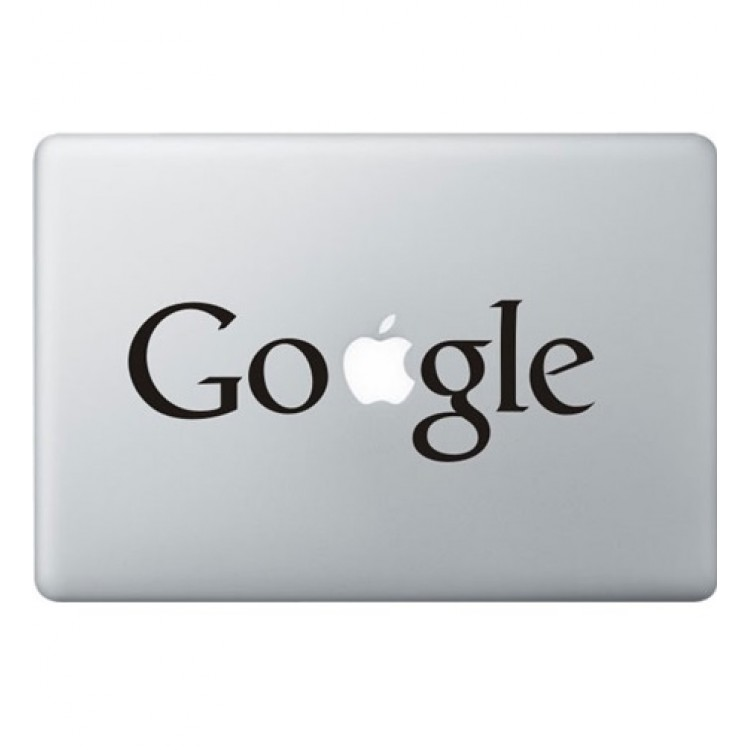 Google Logo Macbook Sticker Zwarte Stickers