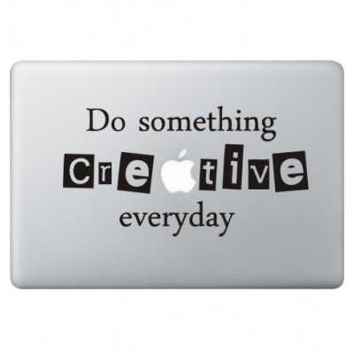 Creative Macbook Sticker Zwarte Stickers
