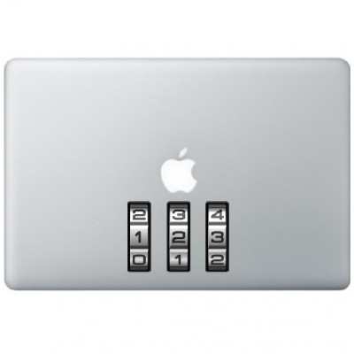 Slot Nummers Macbook Sticker Gekleurde Stickers
