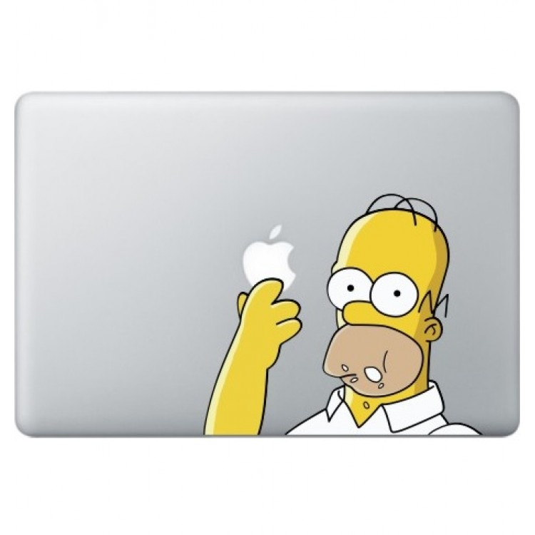Homer Simpsons (2) Macbook Sticker Gekleurde Stickers