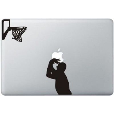 Michael Jordan Macbook Sticker Zwarte Stickers
