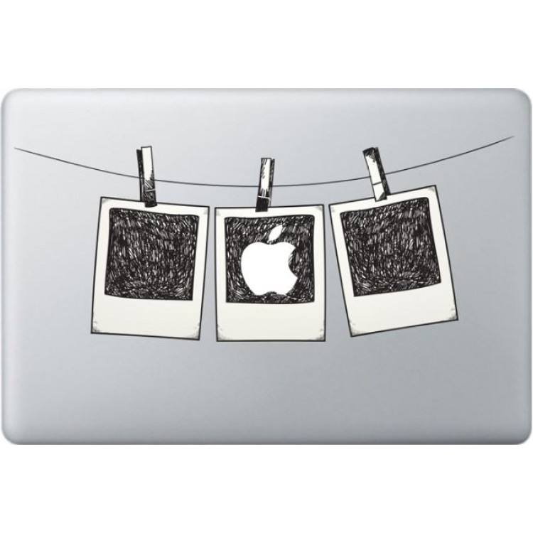 Polaroidfoto Macbook Stickers Gekleurde Stickers