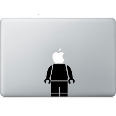 Lego man Macbook Sticker Zwarte Stickers
