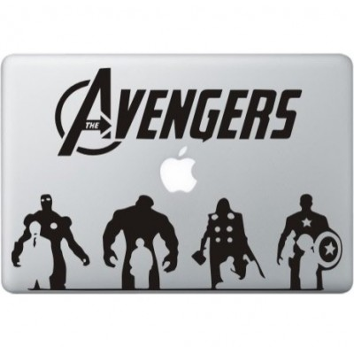 The Avengers (2) MacBook Sticker Zwarte Stickers