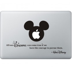 All Your Dreams - Walt Disney MacBook Sticker