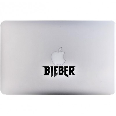 Bieber Macbook Sticker