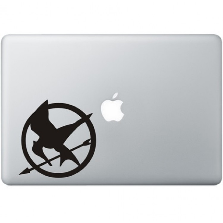 The Hunger Games Macbook Sticker Zwarte Stickers