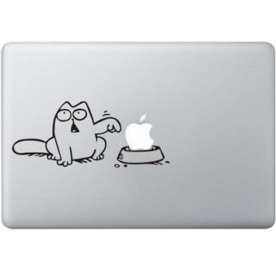 Simon's Cat MacBook Sticker Zwarte Stickers