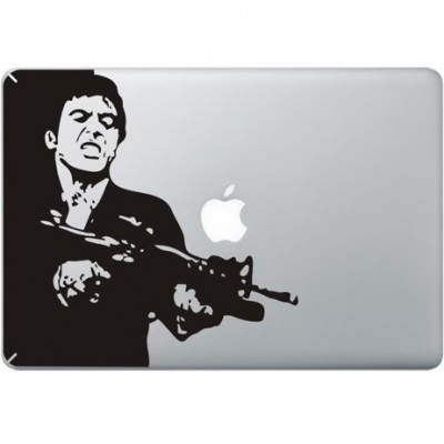 Scarface MacBook Sticker Zwarte Stickers