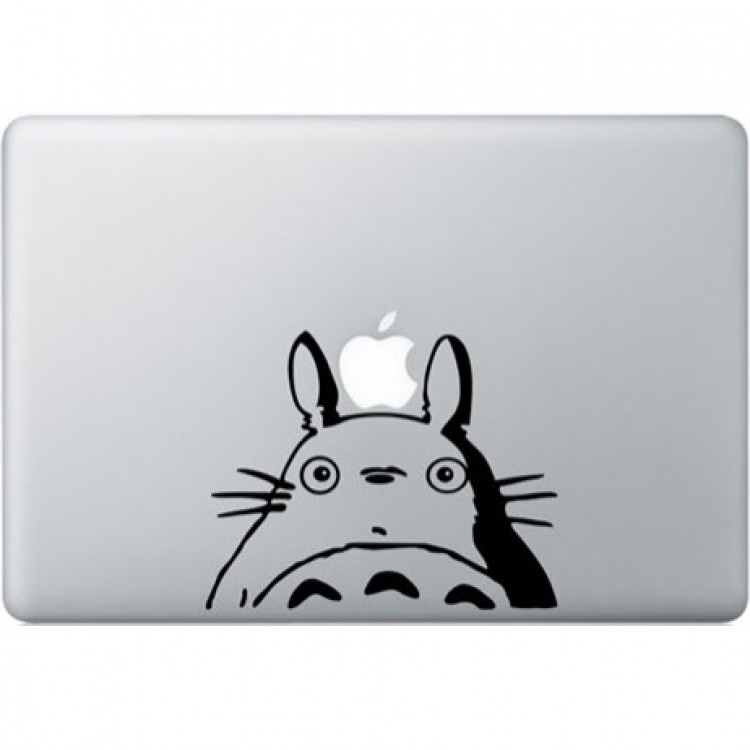 Totoro MacBook Sticker Zwarte Stickers