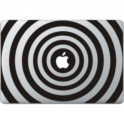 Cirkel Print Macbook Sticker Zwarte Stickers