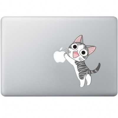 Happy Cat MacBook Sticker Gekleurde Stickers