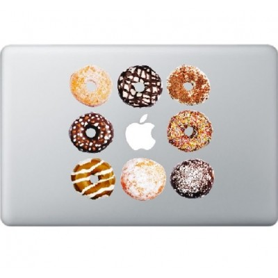 Donuts Macbook Sticker Gekleurde Stickers