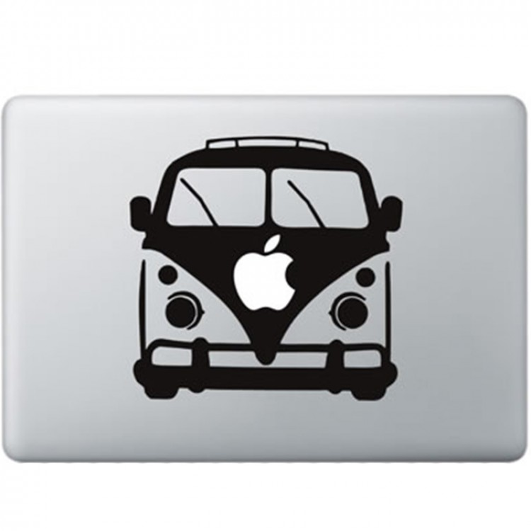 Volkswagen Busje MacBook Sticker Zwarte Stickers