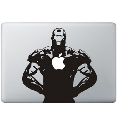Iron Man MacBook Sticker Zwarte Stickers