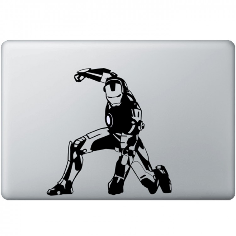 Iron Man (2) MacBook Sticker Zwarte Stickers