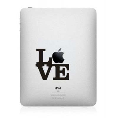 Love Apple iPad Sticker iPad Stickers