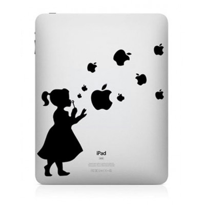 Bellenblaas iPad Sticker