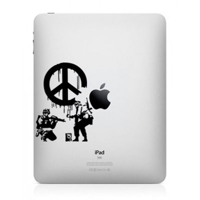 Banksy Peace iPad Sticker