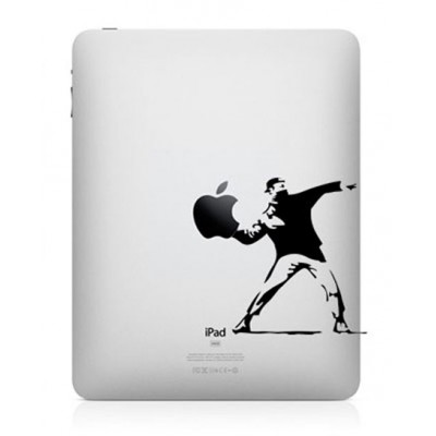 Bansky Throwing Flowers iPad Sticker