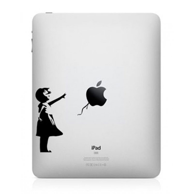 Bansky Girl iPad Sticker iPad Stickers