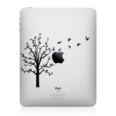 Boom met Vogels iPad Sticker