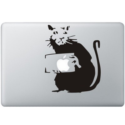 Banksy Rat MacBook Sticker