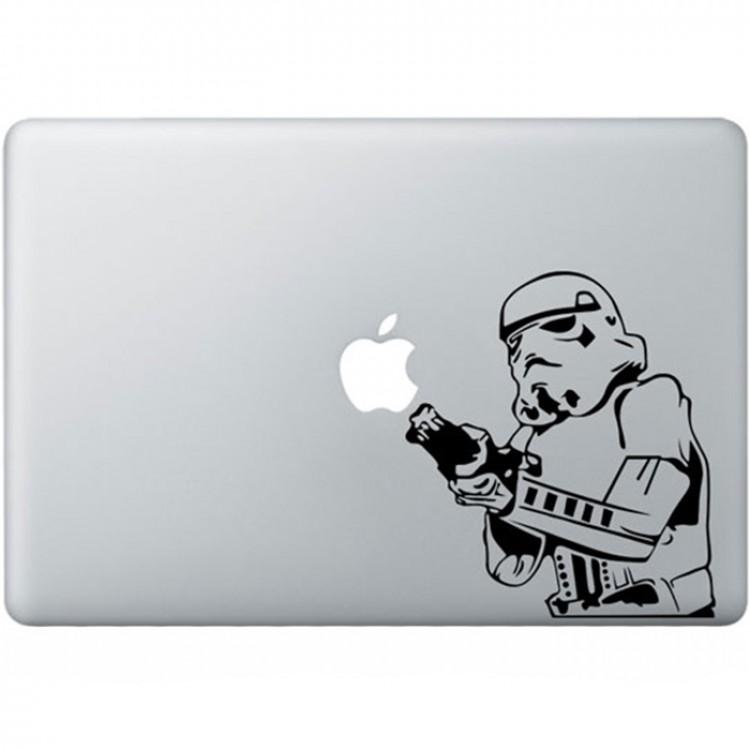 Stormtrooper MacBook Sticker Zwarte Stickers