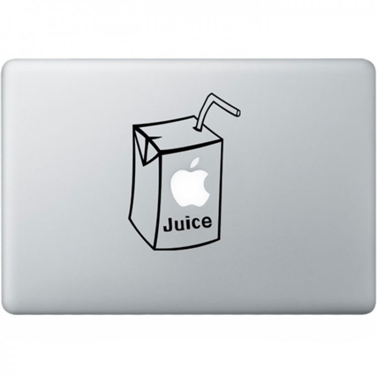 Apple Juice MacBook Sticker Zwarte Stickers