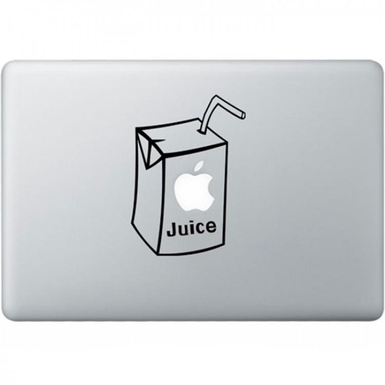 Apple Juice MacBook Sticker Zwarte Stickers