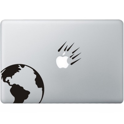 Asteroids MacBook Sticker Zwarte Stickers