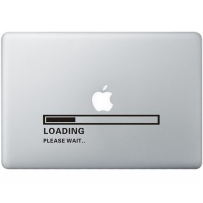 Apple Loading MacBook Sticker Zwarte Stickers