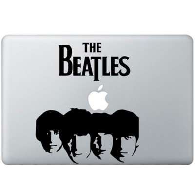 The Beatles (2) MacBook Sticker Zwarte Stickers