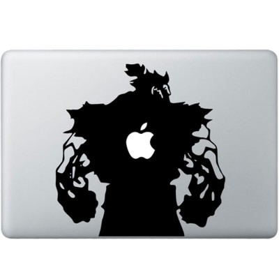 Streetfighter Akuma MacBook Sticker Zwarte Stickers