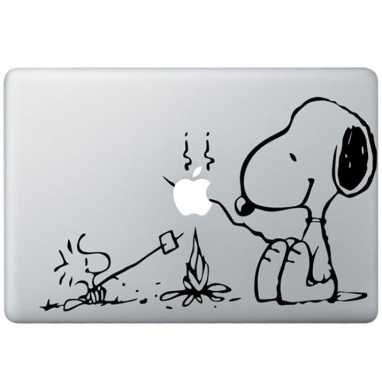 Snoopy MacBook Sticker Zwarte Stickers