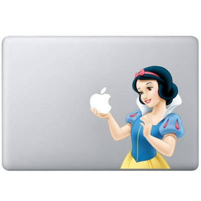 Sneeuwwitje Animatie Kleur MacBook Sticker