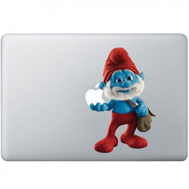Papa Smurf Kleur MacBook Sticker Gekleurde Stickers