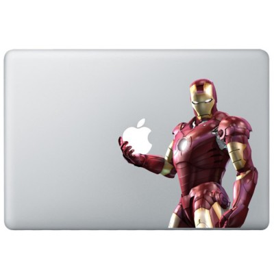 Iron Man (3) Kleur MacBook Sticker Gekleurde Stickers
