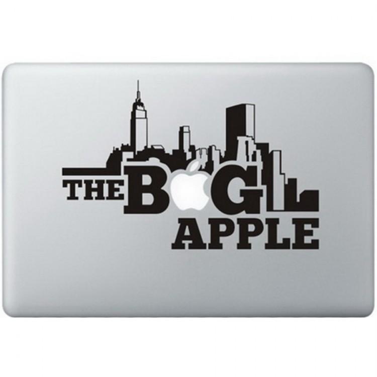 The Big Apple MacBook Sticker Zwarte Stickers