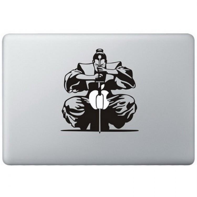 Samurai MacBook Sticker Zwarte Stickers
