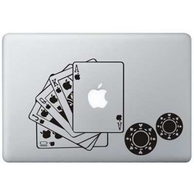 Poker MacBook Sticker Zwarte Stickers
