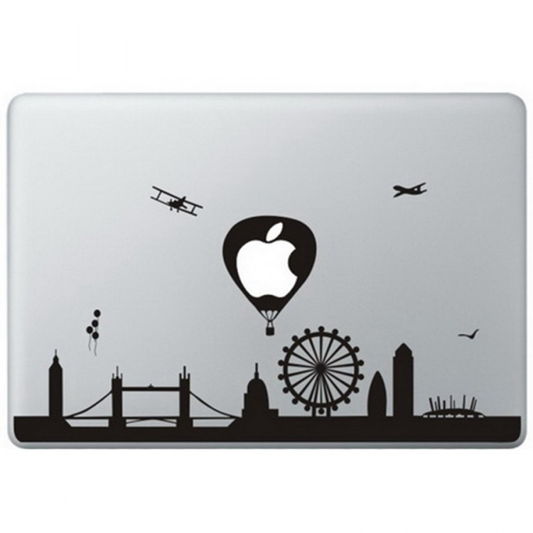 London Landmarks MacBook Sticker Zwarte Stickers