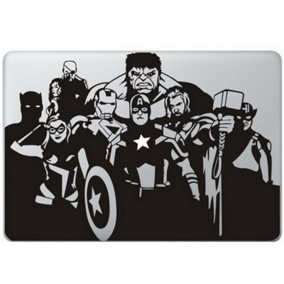 The Avengers MacBook Sticker Zwarte Stickers