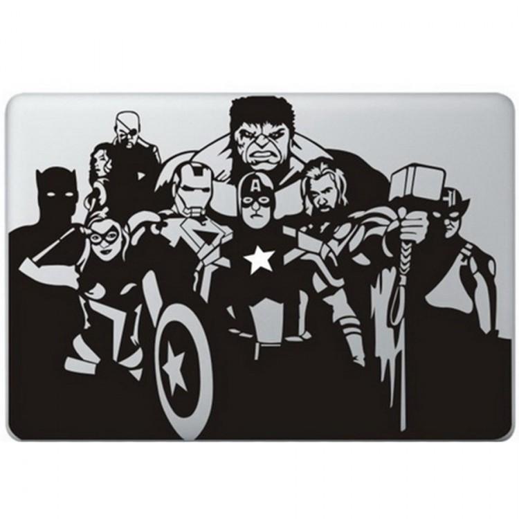 The Avengers MacBook Sticker Zwarte Stickers