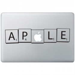 Scrabble MacBook Decal