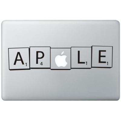 Scrabble MacBook Sticker