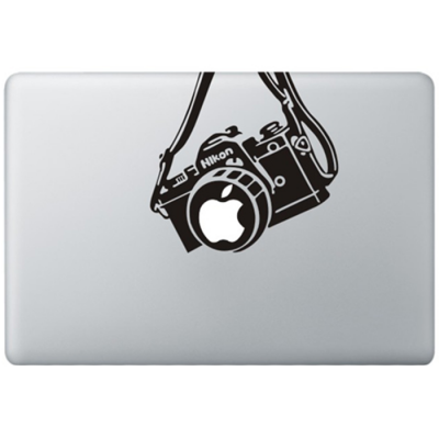 Nikon Vintage Camera MacBook Sticker Zwarte Stickers