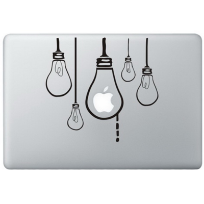 Hangende Lampen MacBook Sticker