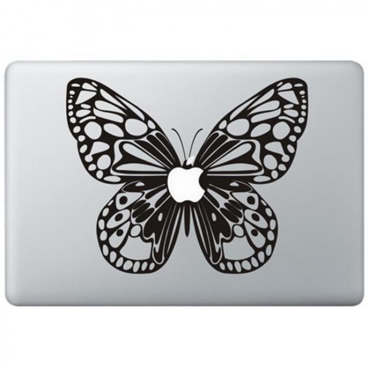 Vlinder Macbook Sticker Zwarte Stickers