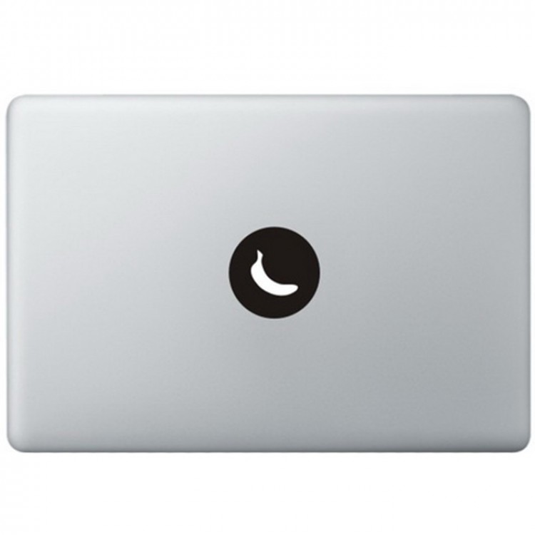 Banaan Logo MacBook Sticker Zwarte Stickers